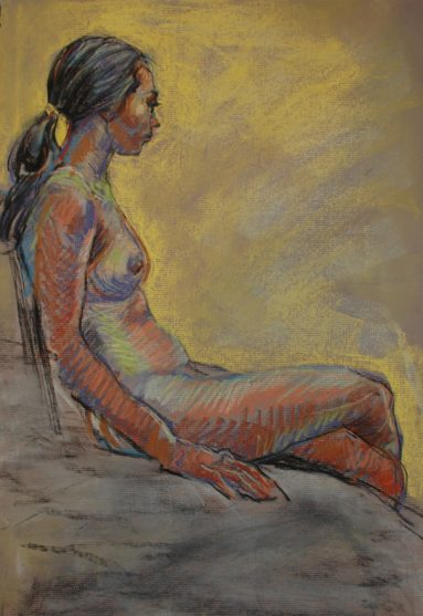 Drawing by Mayko Fry - 40 minute figure drawing