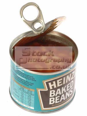 Heinz baked beans tin (open)