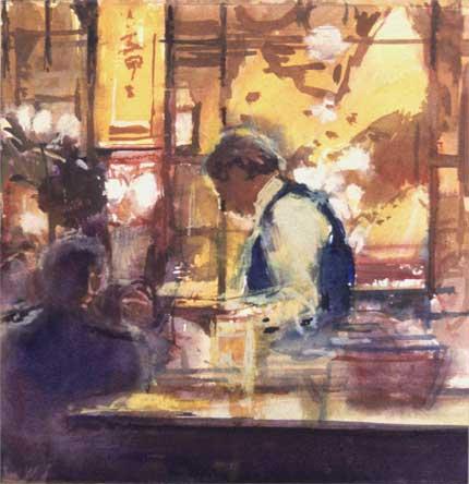 Painting figure waiter