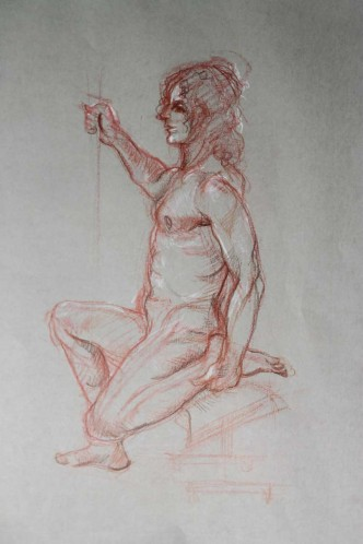 Original drawing (10 minutes drawing a life drawing session)