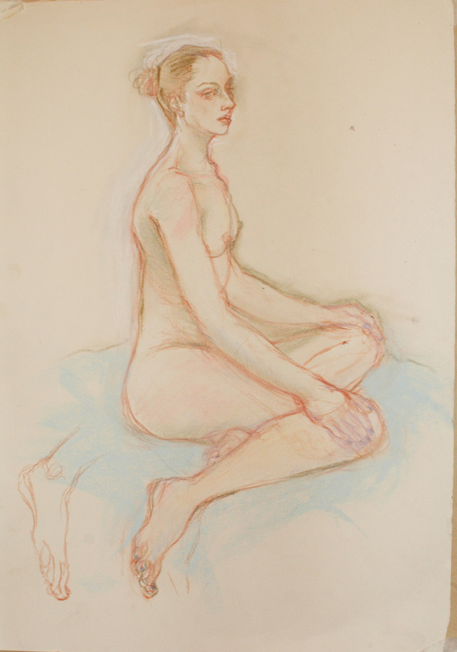 The original life drawing by Mayko