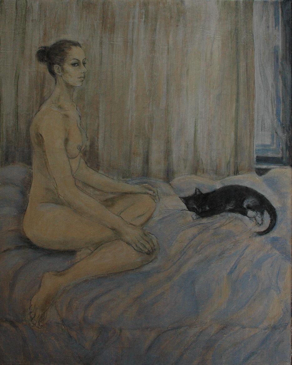 Beginning the painting