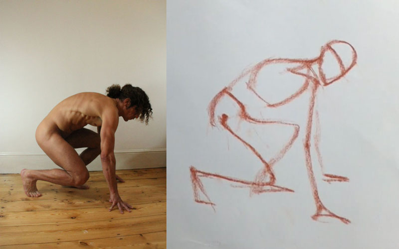 Drawing poses viewed from the side and back | Love life drawing
