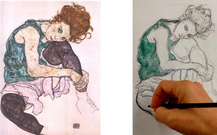 How to paint like egon schiele